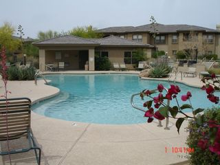 Pool, spa and fitness center - Scottsdale Grayhawk condo vacation rental photo