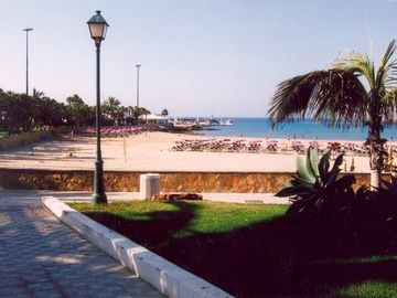 Beautiful Caleta Beach, just 5 mins walk away