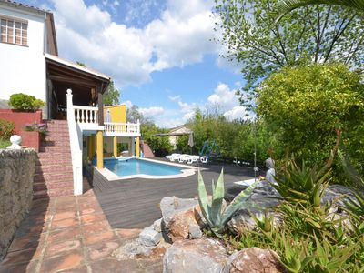Private apartment with stunning countryside views,large pool, gardens and Wi-Fi