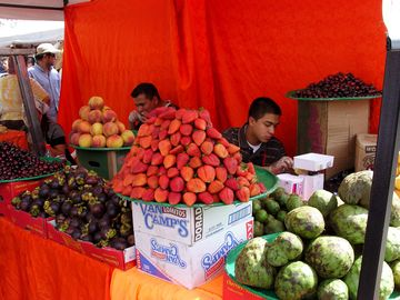 Fresh tropical fruit on market day!