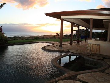 Lahaina villa rental - Enjoy gorgeous sunsets from almost anywhere on the property