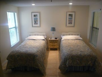 Two twin beds in second BR.