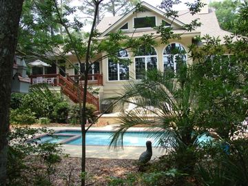 Palmetto Dunes house rental - A Vacation Paradise - Large Pool - Beautiful Landscaping -150 steps to the beach