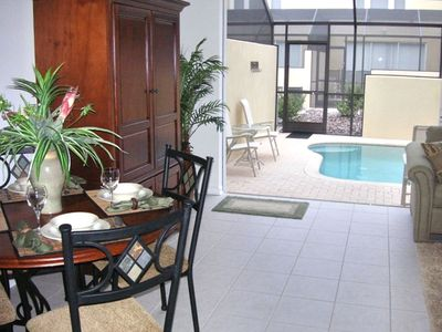 Kissimmee townhome rental - Step out to the Lanai