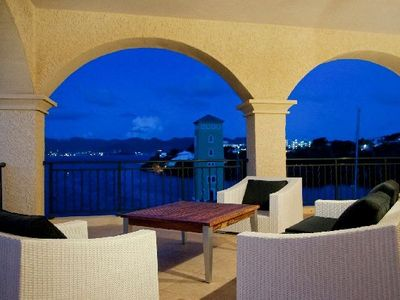 Tropical Breezes enjoys balmy breezes and views of the Bay and the Marina