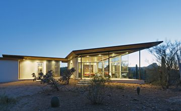 Tucson cottage rental - 'Architectural Digest' comes to the desert - unique design, at one with nature