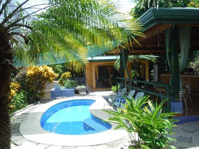 Casa Papaya, just steps from the pool and nestled in a tropical garden.