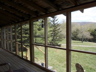 Claryville cabin photo - Expansive view from porch