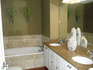 Master bath, there is also a shower, the tub has jets.
