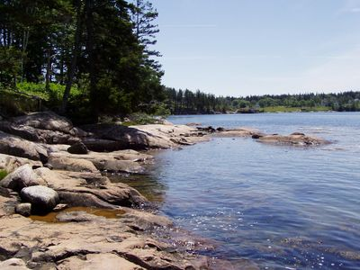 West Tremont cottage rental - Our Private Rocky Shoreline