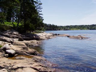 West Tremont cottage photo - Our Private Rocky Shoreline