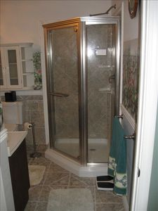 Master shower with custom tile