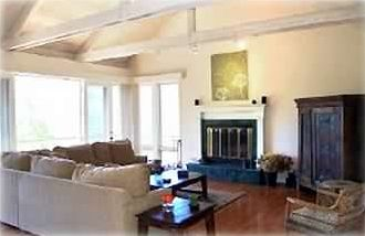 Carmel Valley house rental - Family room with deck balcony and sweeping valley views