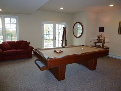 Game Room with Slate Pool Table & Ping Pong.