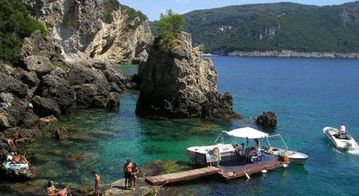 paleokastritsa beach boat hire for the day