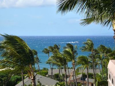You can comfortably whale watch from the lanai even on a windy day