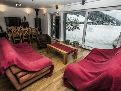 Luxurious house (6-10p.), gorgeous view, sauna, bathtube, home cinema, stove...