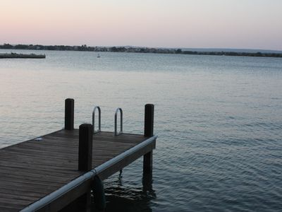 Your dock at sunset.