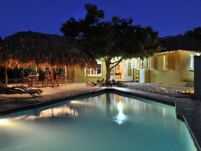 Authentic tropical villa located in a large garden with private pool.