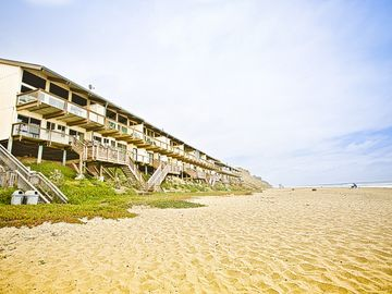 La Selva Beach townhome rental - View from Sand Dollar Beach of the Townhouses