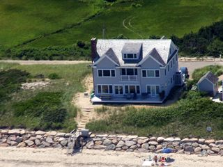 Dennis Village house photo - From the Air/ Private beach