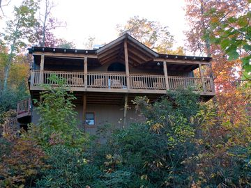 Maggie Valley chateau / country house rental - Front of house from Dove Dr.