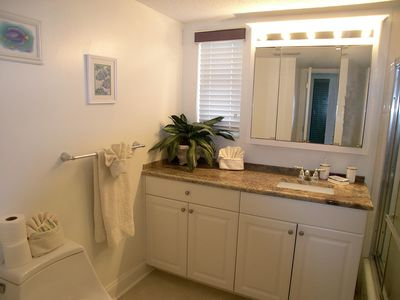 Updated Bathroom with Granite Countertop