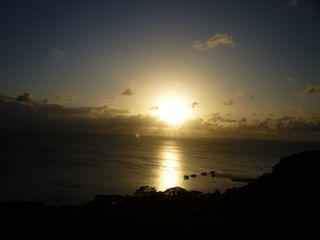 Aguadilla condo photo - sunset from balcony