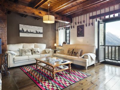 Penthouse for 12 people in Bagergue, near Baqueira. WIFIAPTO. Vista Bagergue