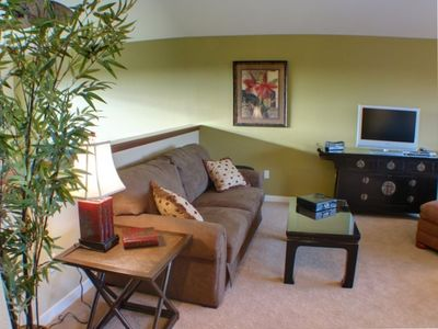 Upstairs Loft with Queen Sofa Bed & TV - Great 2nd Living Area for Kids Getaway