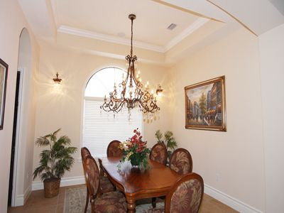 The first floor main dining room