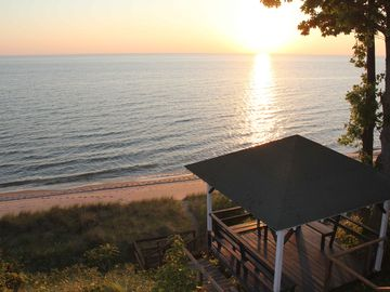 Holland cottage rental - Picture from deck overlooking the beach