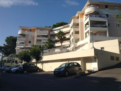 F2 APARTMENT WITH TERRACE, RECENT, SECURE RESIDENCE, POOL, CLOSE TO CANNES