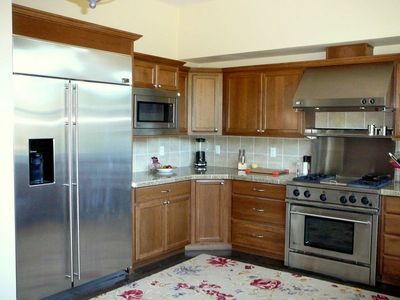All stainless steel appliances and granite counter tops.