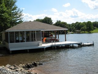 Dock area with screened porch - Lake Anna house vacation rental photo