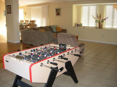 Game Area, Foosball table and dart board