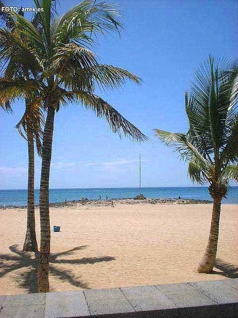 Playa Reducto beach in Arrecife