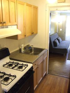 Brooklyn townhome rental - Kitchen: Fridge/freezer; stove; microwave; coffee maker; blender; toaster...