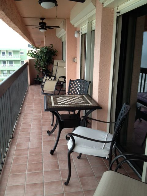 Patio furniture - 3 sets of sliding doors to the balcony