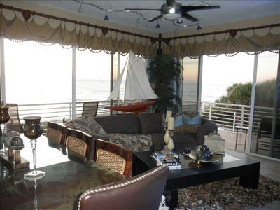 Unobstructed view of the Gulf of Mexico from your living/dining main room.