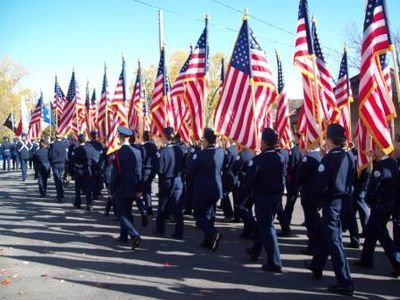 Salute to Veterans - Annual parade in November