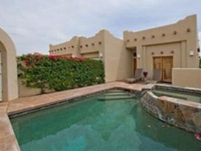 Stunning Gated Private Pool Home w/ Spa & Waterfall and Patio with mountain view