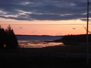 Acadia National Park cabin photo - Summer sunset from the deck at low tide