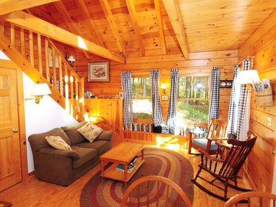 Rangeley Lake cabin rental - Living Area