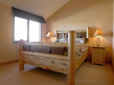 The lovely master bedroom with Queen bed.