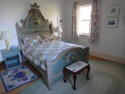 Baker House is amply furnished with casual antiques and art.