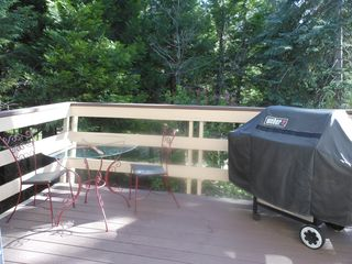 Lake Arrowhead house photo - Back BBQ/breakfast deck
