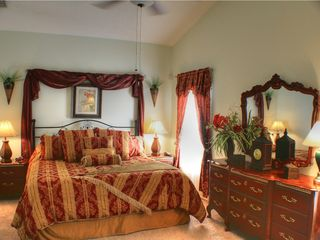 Sunridge Woods villa photo - Panama Theme master bedroom King Size bed and ensuite full bath