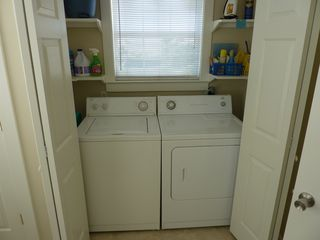 Gulf Shores house photo - Laundry with Full Size Washer and Dryer