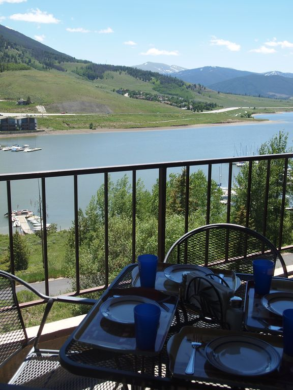 Imagine having Dinner on the Patio with this View of Lake Dillon!